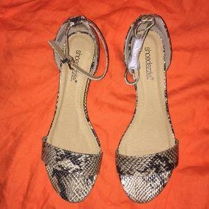 Snake skin sandals